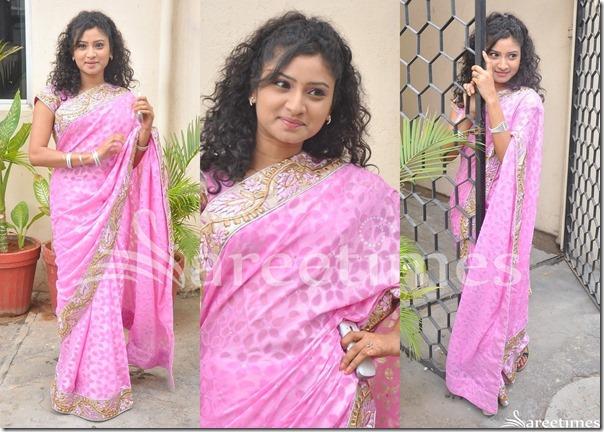 Vishnu_Priya_Pink_Saree