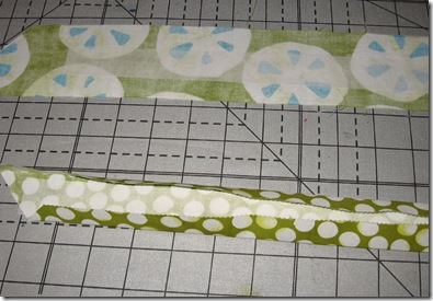 fold casing pieces to center