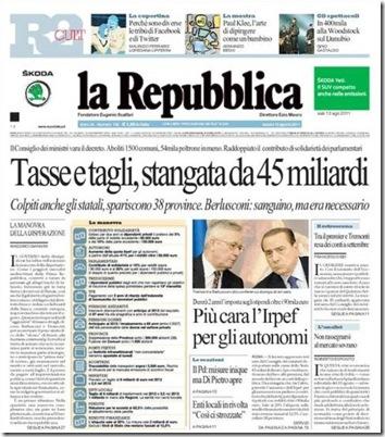 La Repubblica (clicca per ingrandire)