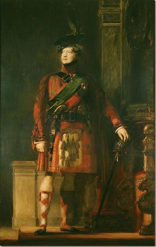 Georges IV en kilt