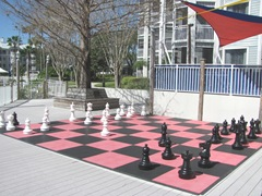 Florida Marriott Cypress Harbour outdoor chess game