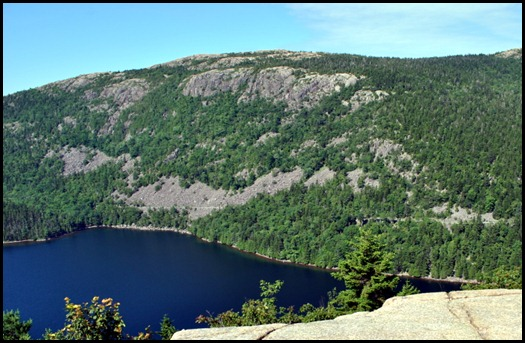 09 - South Bubble - View of Penobscot, Jordan Pond and Cliffs, Carriage Road