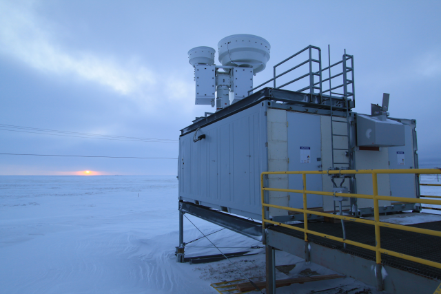 U.S. Department of Energy atmospheric research site near Barrow, Alaska. Photo: Jonathan Gero