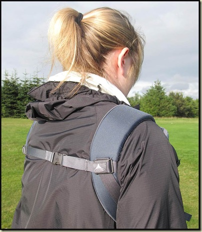 Vaude Soft 111 - demonstrating rear fastening strap