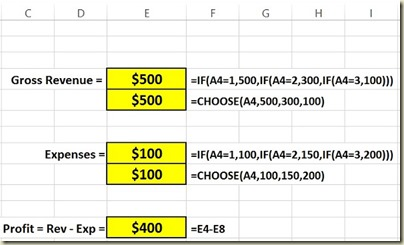 Form Controls in Excel - Option Button Scenario 1 Closeup