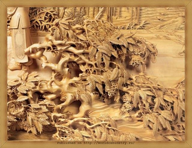Китайская резьба по дереву