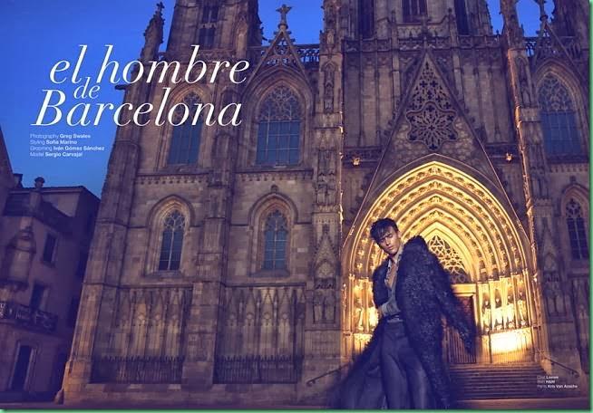 """Sergio Carvajal is """"El Hombre de Barcelona"""" for Adon Mag"""