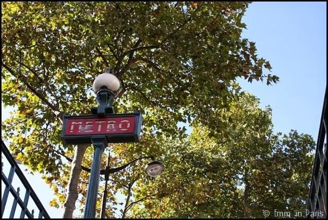 Art nouveau Metro sign Paris