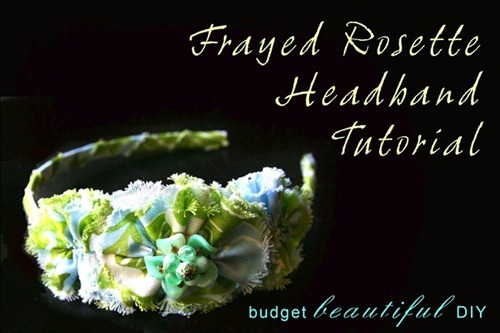 frayed rosette headband tutorial