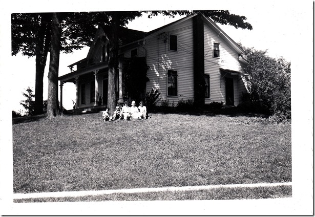 My Uncles, Willis, Helena, and Mom at Early Home of Joseph Smith near Palmyra, New York