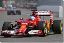 Alonso nelle prove libere del gran premio del Canada 2014