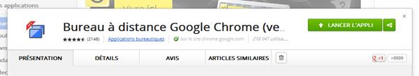 Prise de contrôle d'un ordinateur à distance grâce à Chrome