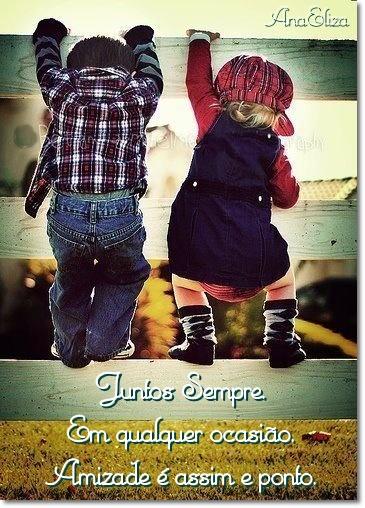 Juntos sempre em qualquer ocasião Amizade é assim