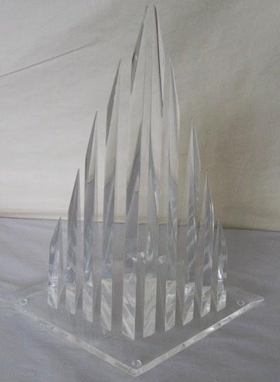 Hivo G Van Teal 10 spire Lucite sculpture