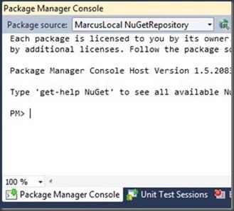 choosing local package source