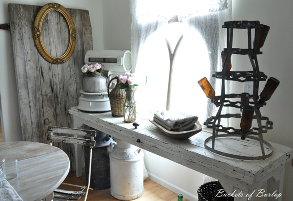 breakfast nook barn door