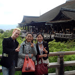 with some locals at kiyomizu in Kyoto, Kyoto, Japan