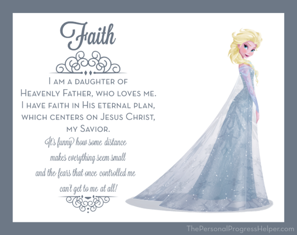 Young Women Value Disney Princess Posters | Faith: Elsa