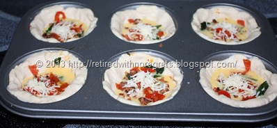 Breakfast Bacon N Egg Biscuit Cups - ready for oven