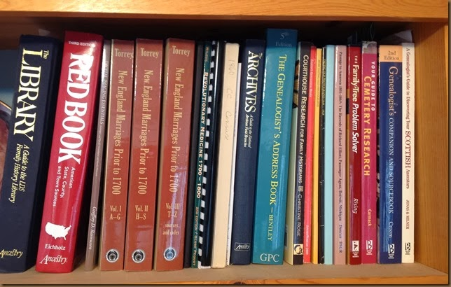 Books on my 1st shelf in office