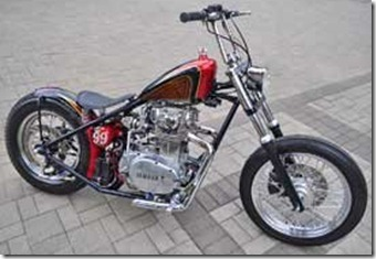 Modification Yamaha XS 650 Chopper