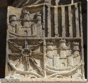 Escudo con las cadenas de Navarra - Oña