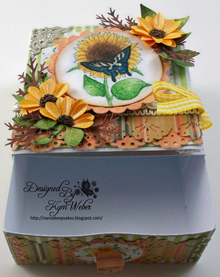 Swallowtail & Sunflower Card Box2