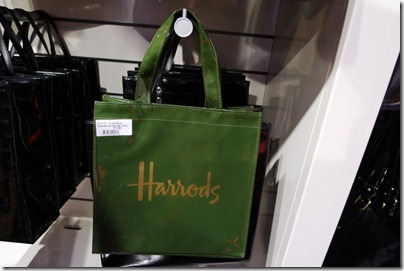 Harrods signature green carrier