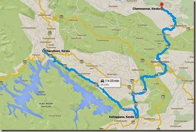 map of kattappana