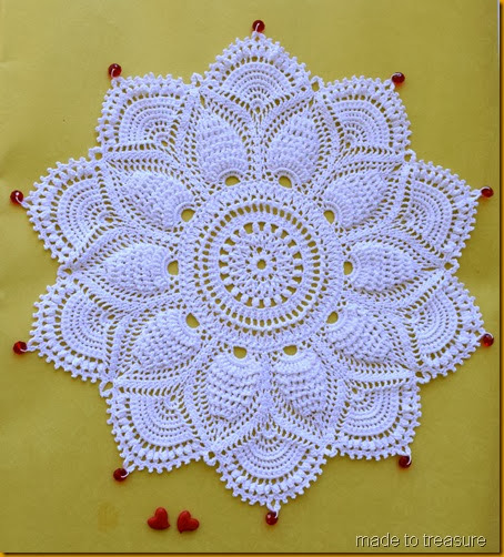 ultimate doily with  beads 2