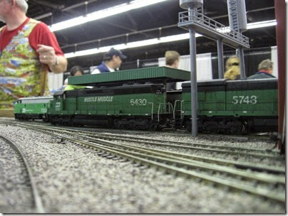 IMG_5445 Burlington Northern SD45 #6430 'Hustle Muscle' on the LK&R HO-Scale Layout at the WGH Show in Portland, OR on February 17, 2007
