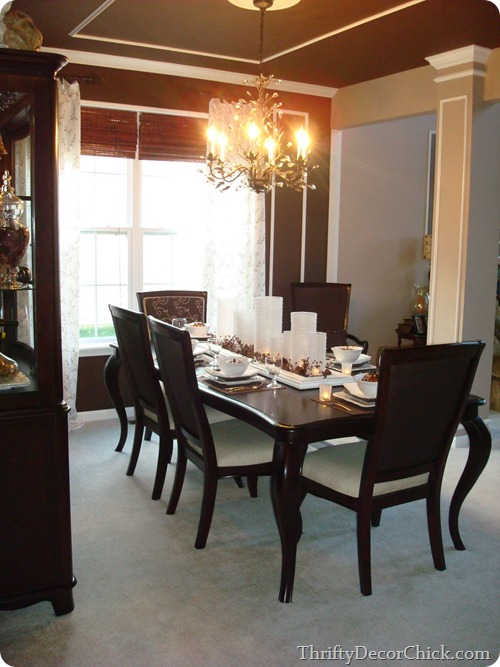 brown dining room