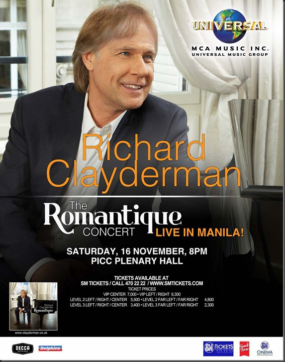 richard clayderman 22x28 concert poster