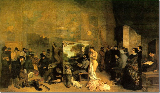 Courbet, Painter's Studio, Real Allegory 1855.jpg
