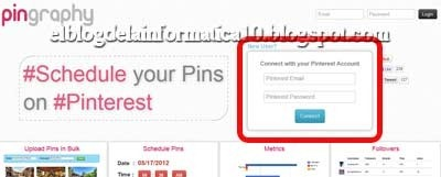 Programar pins en Pinterest