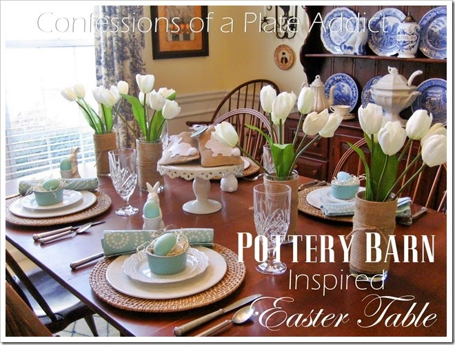 CONFESSIONS OF A PLATE ADDICT Pottery Barn Inspired Easter Tablescape