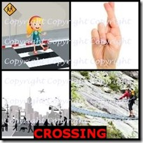 CROSSING- 4 Pics 1 Word Answers 3 Letters
