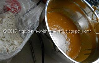Slow-Cooker Pumpkin Cake - Gluten Free - mixing