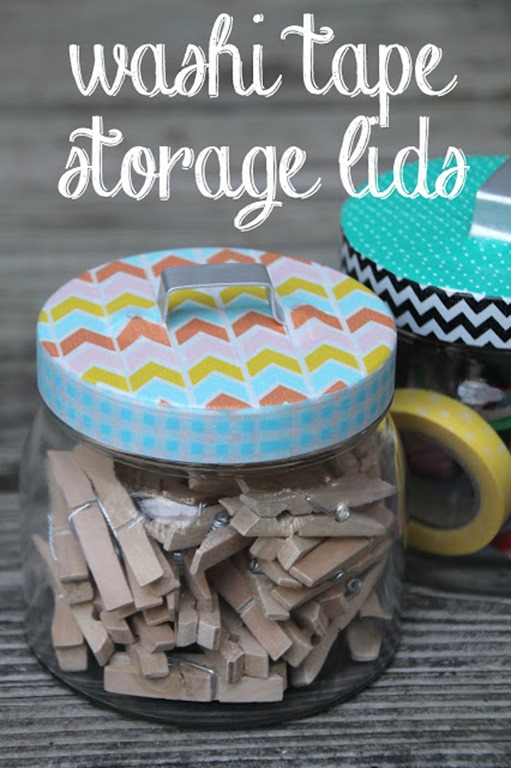 washi tape storage lids