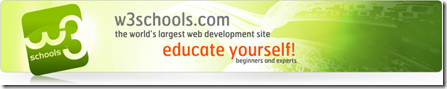 front banner w3schools in blog website design