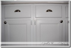 kitchen island with handles {A Sprinkle of This . . . . A Dash of That}