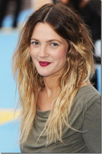 Drew-Barrymore-ombre-hair
