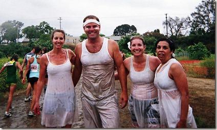 Camp Pendleton Mud Run wet t-shirt contest