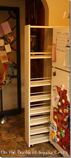 how to build a DIY custom pull-out pantry
