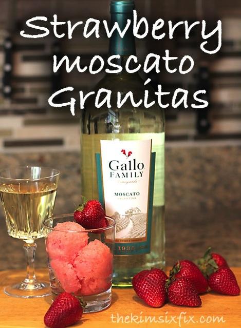 Strawberry moscato granitas