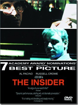 analysis of the movie the insider Summary: the true story of a a movie of the first rank playing a 52-year-old tobacco company executive in the insider is all in a day's work for 35-year-old.