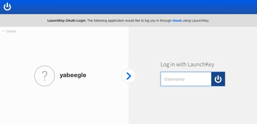 Login with launchkey 1