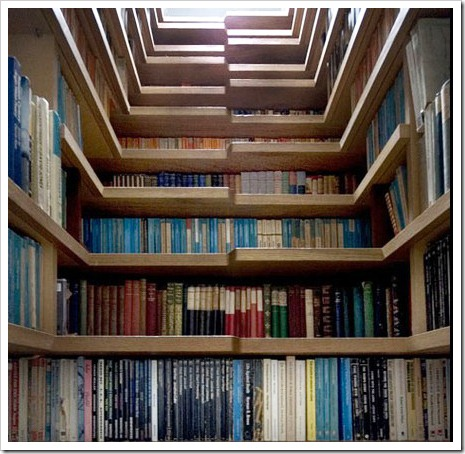 bookcase stairway