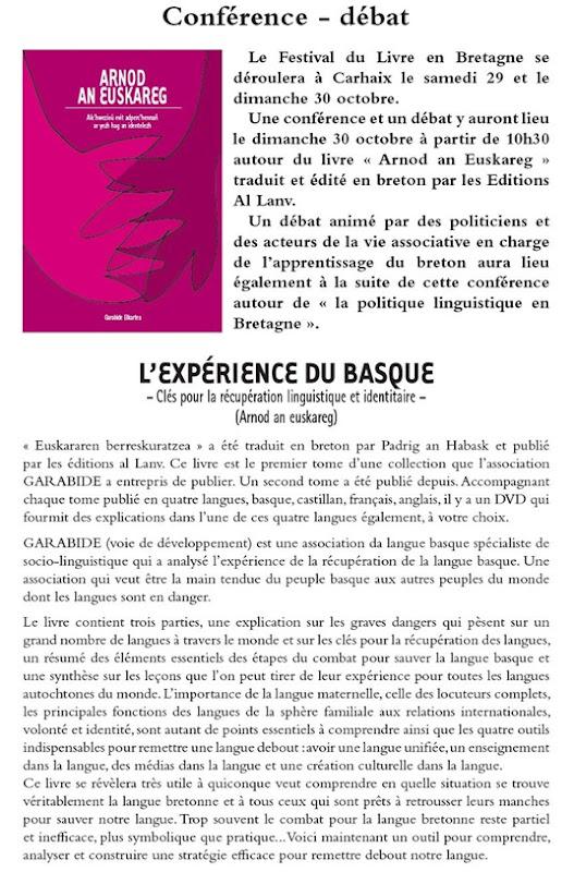 conferéncia sobre Euskadi en Bretanha
