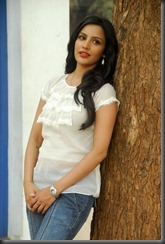 priya anand in white dress